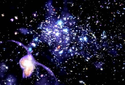 Cluster van sterren.