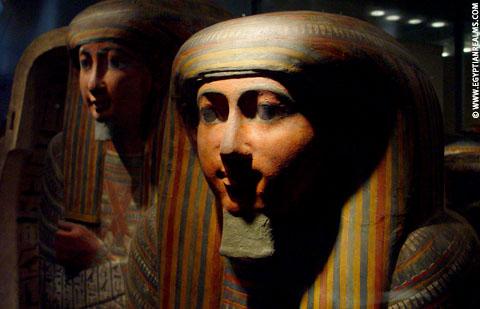 Egyptische sarcofaag kisten.