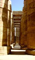 Pilaren van de Karnak Tempel.