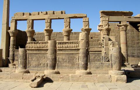 Restanten van de Philae Tempel.