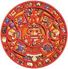 Zon kalender van de Azteken.