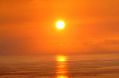 Zon boven de Horizon.
