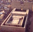 Zicht op het dak van de Edfu Tempel.
