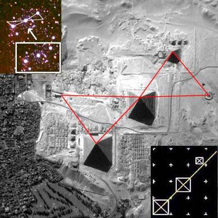 De piramiden van Giza en Orion.