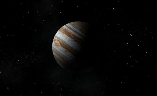 Impressie van planeet Jupiter.