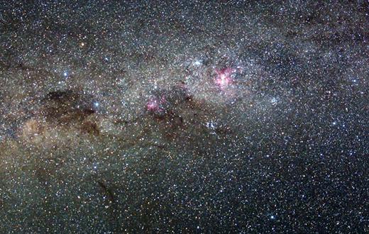 Sterren in het universum.