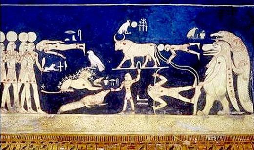Egyptische astrologische voorstelling