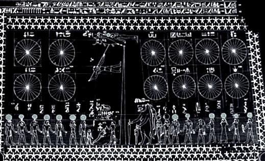 Egyptische astrologische voorstelling.