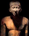 Houten beeld van Imhotep.