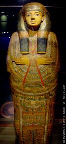 Grote Egyptische sarcofaagkist.