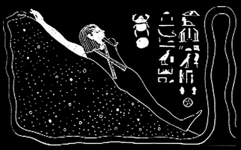 Illustratie van het opreizende lichaam.