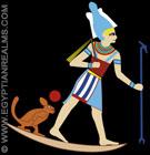 Illustratie van het oud-Egyptische hemellichaam Orion.