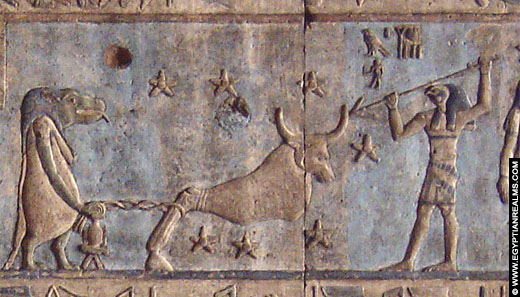 Egyptische astrologische voorstelling van sterrenbeeld Grote Beer