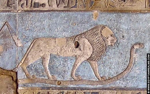 Sterrenbeeld Leeuw op een plafond van de Dendera tempel.