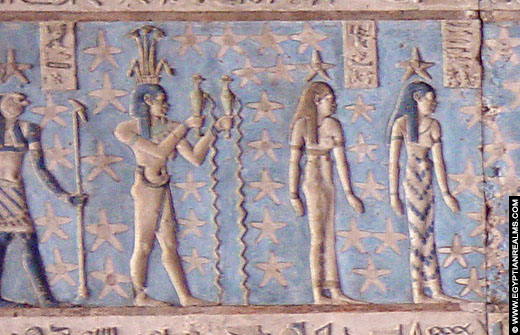 Sterrenbeeld Waterman in de Dendera Tempel. Copyright EgyptianRealms.com