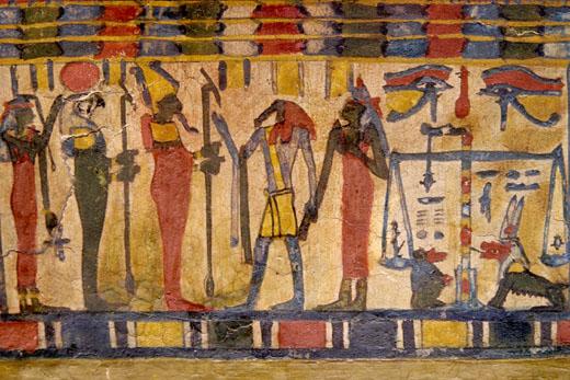 Voorstelling van de oud-Egyptische weegMand.