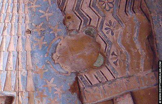 Sterrenbeeld Kreeft in de Dendera Tempel.