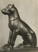 Beeld van een oud-Egyptische hond.