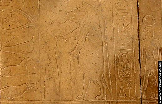 Relief van de Grote Beer in het Ramesseum.