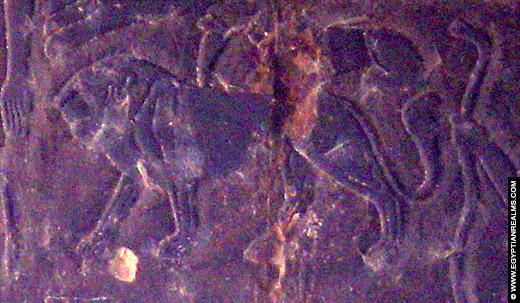 Sterrenbeeld Leeuw op het plafond van Esna Tempel.