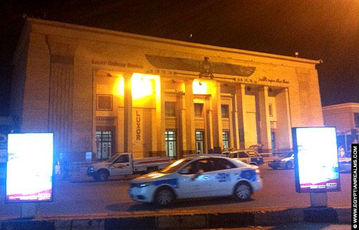 Treinstation in het centrum van Luxor.