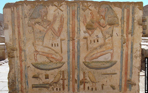 Relief afkomstig van de tempel van Medinet Habu.