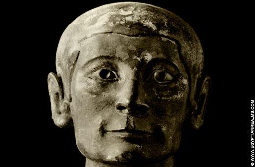 Oud-Egyptische schrijver met ingelegde ogen van Bergkristal.
