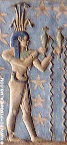 Sterrenbeeld Waterman afkomstig van de Dendera Tempel.