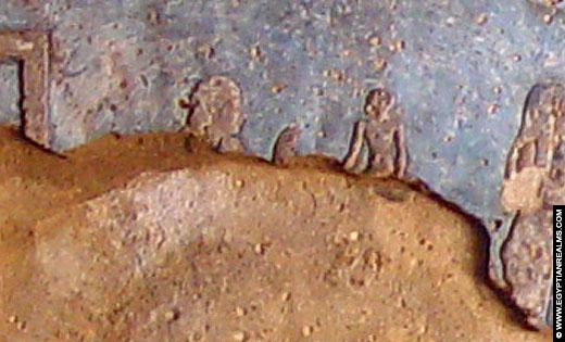 Sterrenbeeld Maagd op een plafond van de Dendera tempel.