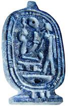Cartouche Amulet met voorstelling.