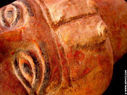 Detail van het mummie masker.