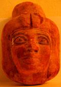Voorzijde van het mummie masker.