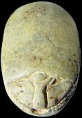 Egyptisch amulet van Kever.