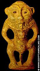 Oud-Egyptisch amulet van Bes.