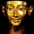 Gouden masker uit het oude Egypte.