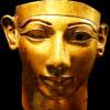 Gezicht uit het oude Egypte.