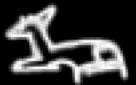 Oud-Egyptisch hieroglief van een veulen.