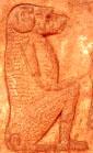 Oud-Egyptisch hieroglief van de baviaan.