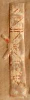 Oud-Egyptisch hieroglief van een papyrusrol.