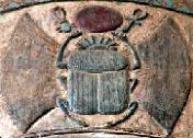Oud-Egyptisch hieroglief van een kever.
