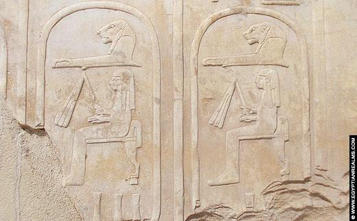 Hierogliefen afkomstig van de Karnak Tempel.