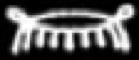 Oud-Egyptisch hieroglief van een sluier.