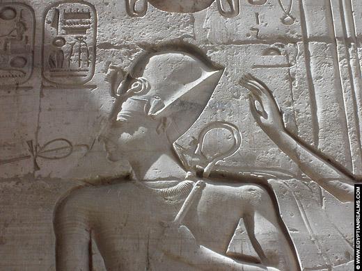 Relief van Ramses II op een muur van het Ramesseum.