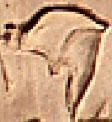 Oud-Egyptisch hieroglief van een helm.