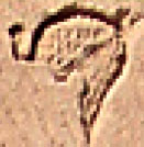 Oud-Egyptisch hieroglief van een kroon.