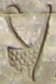 Oud-Egyptisch hieroglief van de rode kroon.