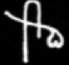 Oud-Egyptisch hieroglief van een orgaan.
