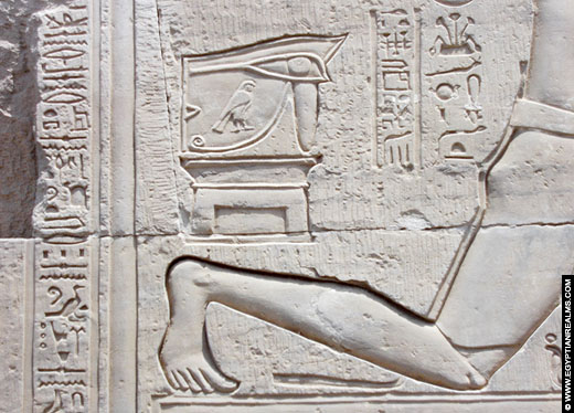 Relief afkomstig uit de Kom Ombo Tempel.