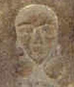 Oud-Egyptisch hiëroglief van het gezicht.