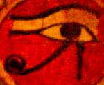 Oud-Egyptisch hiëroglief van het linkeroog.